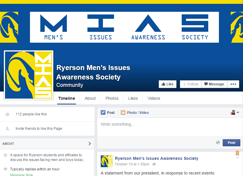Ryerson men's rights group club