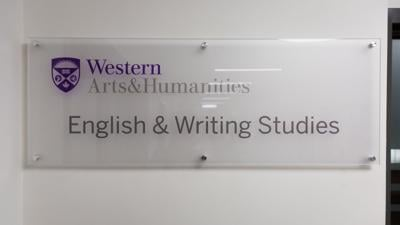 English Department Sign
