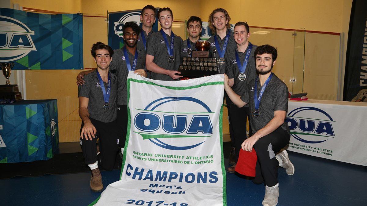men's squash 2018 oua champions