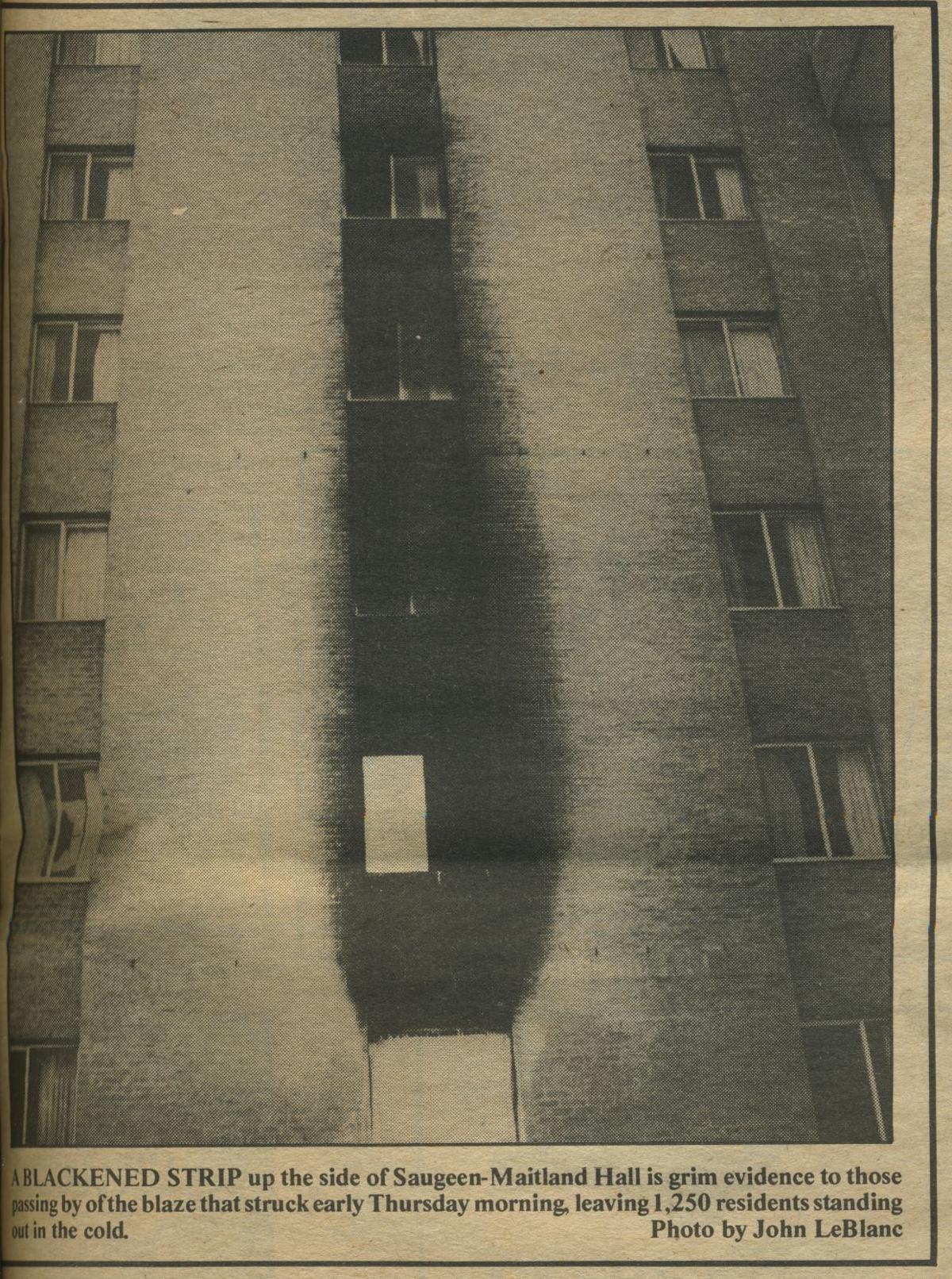 1984 Saugeen arson, outside