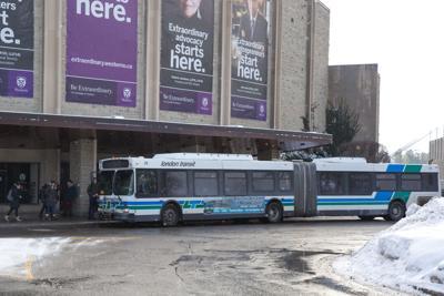 Bus in winter