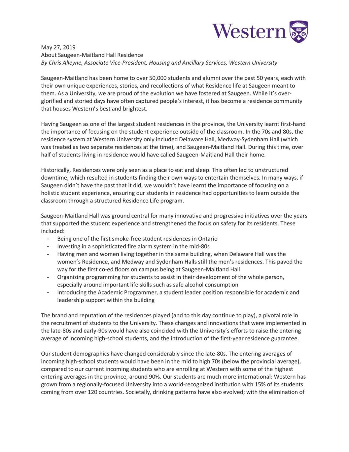 Housing's full statement