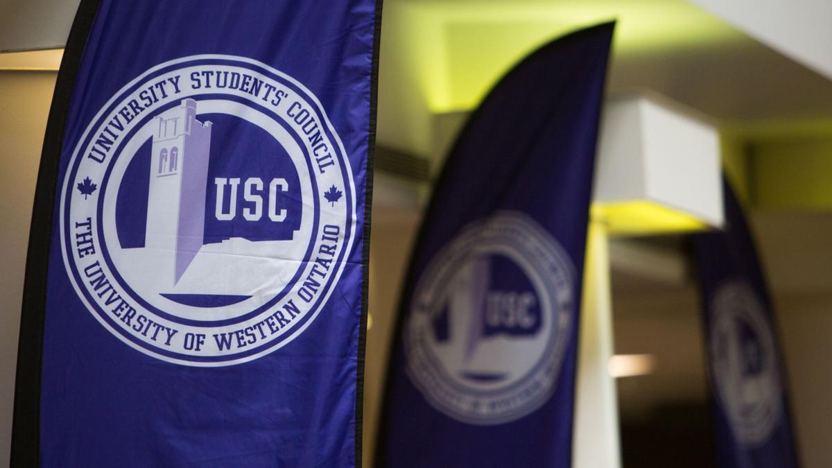 USC pennants in atrium