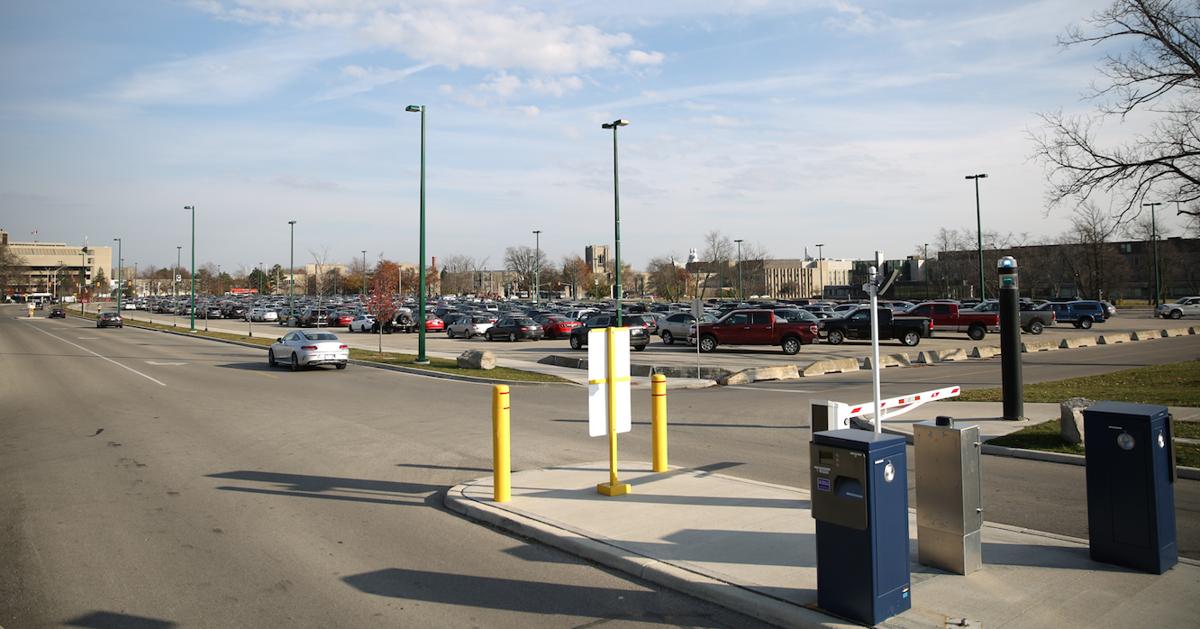 parking outwards