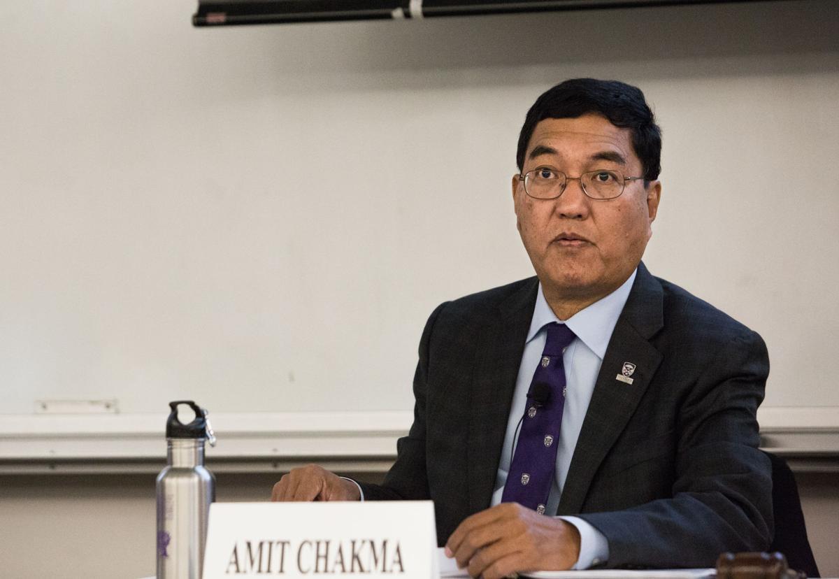 Chakma at senate meeting (Photo)