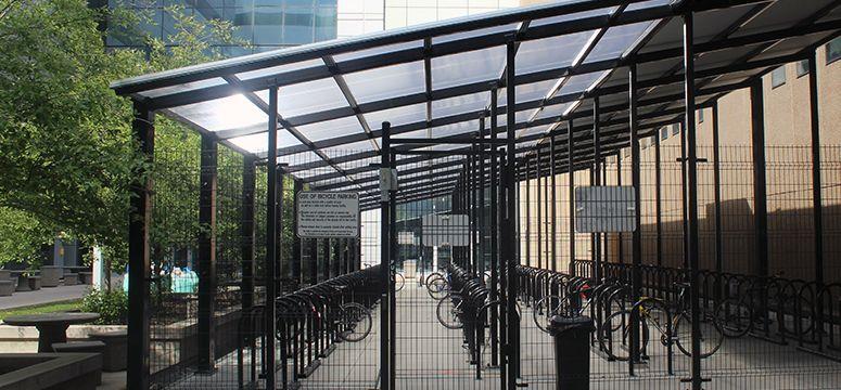Bike storage, University of Calgary