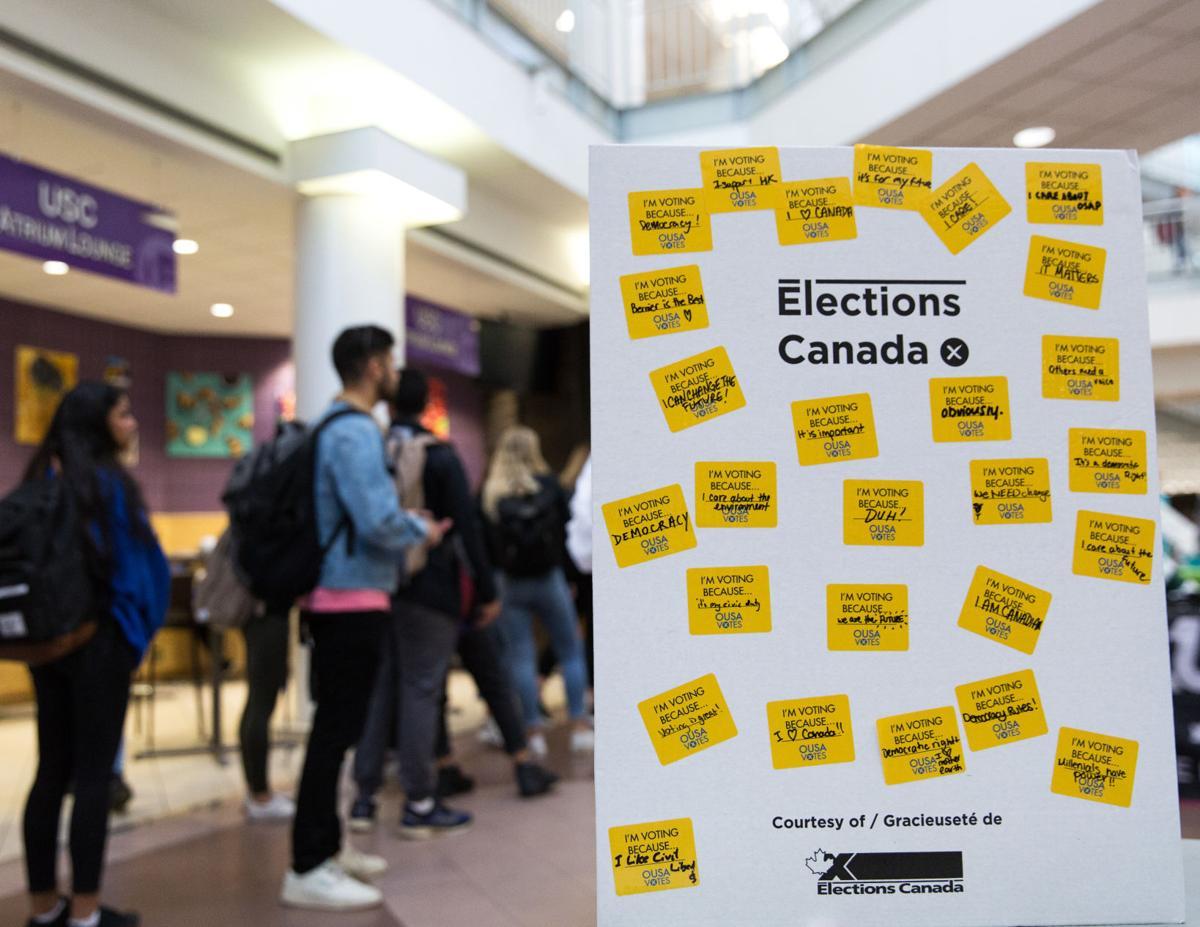 Atrium vote stickers