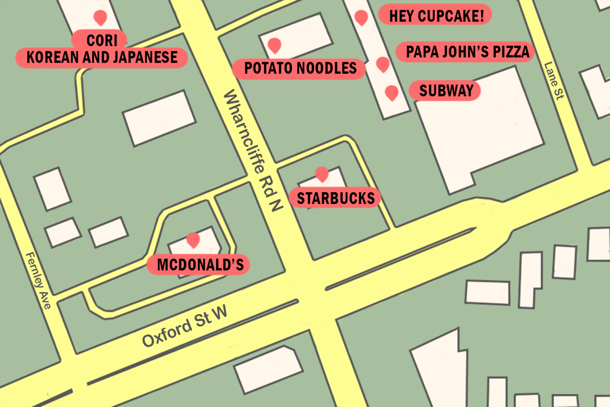 Student neighbourhoods - Oxford & Wharncliffe graphic