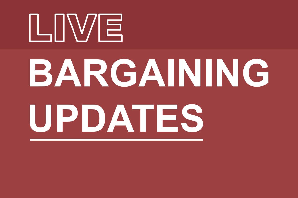 Live strike update bargaining (Graphic)