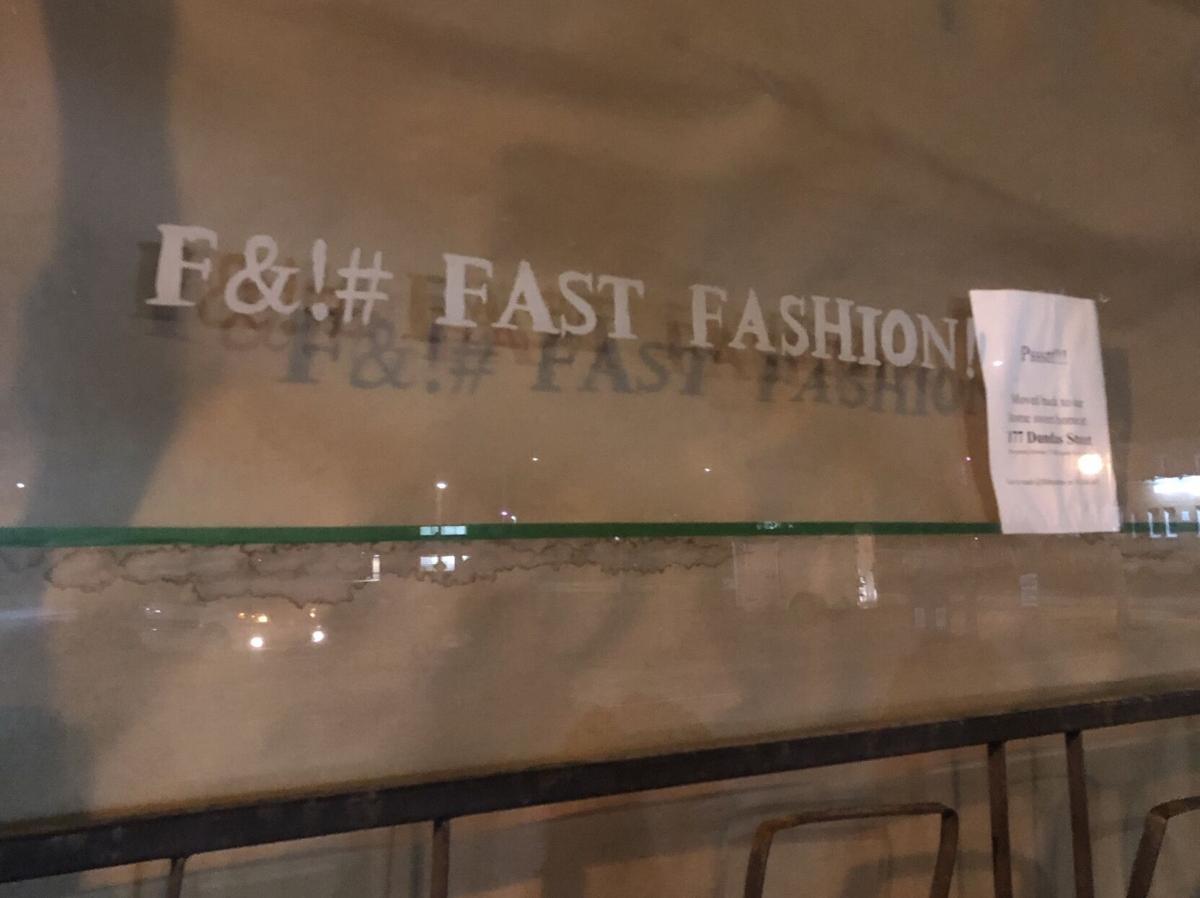 Fast fashion window