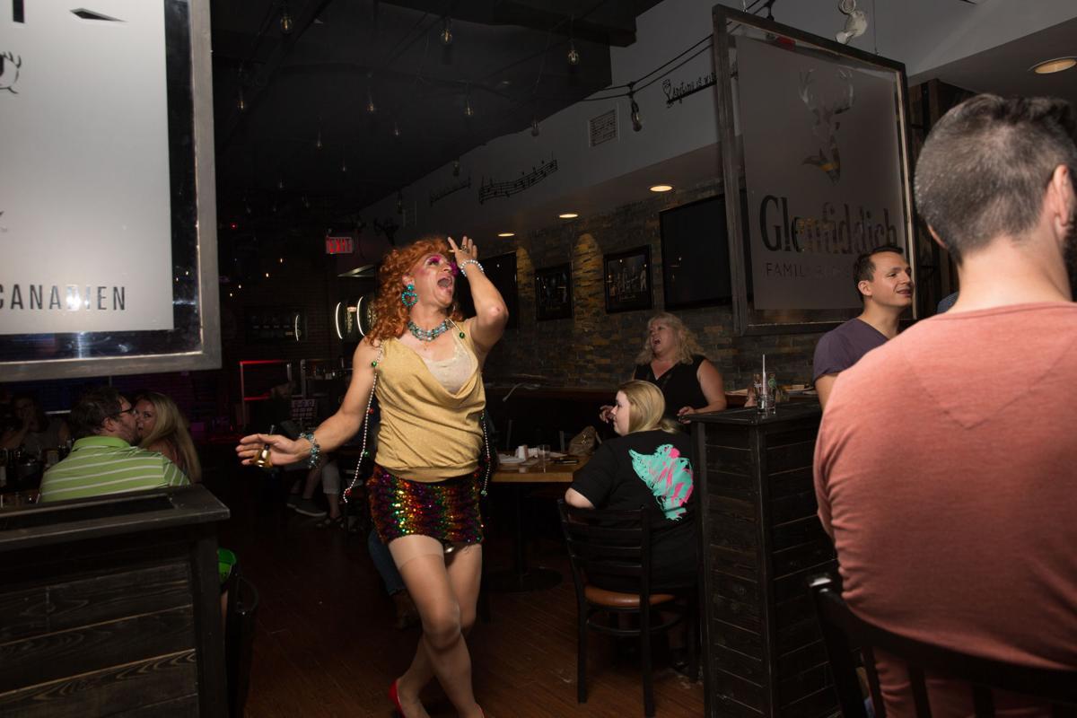 Bitchy Drag Queen Bingo (Photo 19, Mz Affra-Tighty singing)