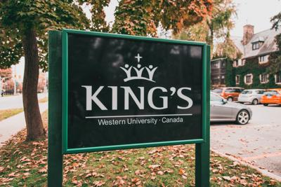 King's outdoor sign (Photo)