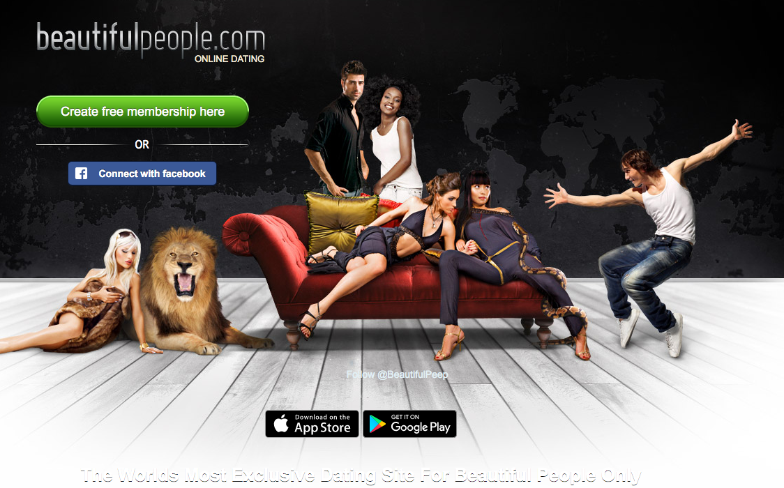 BeautifulPeople.com screenshot