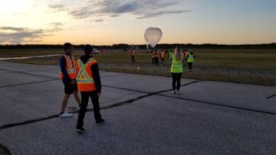 Students' hot air balloons