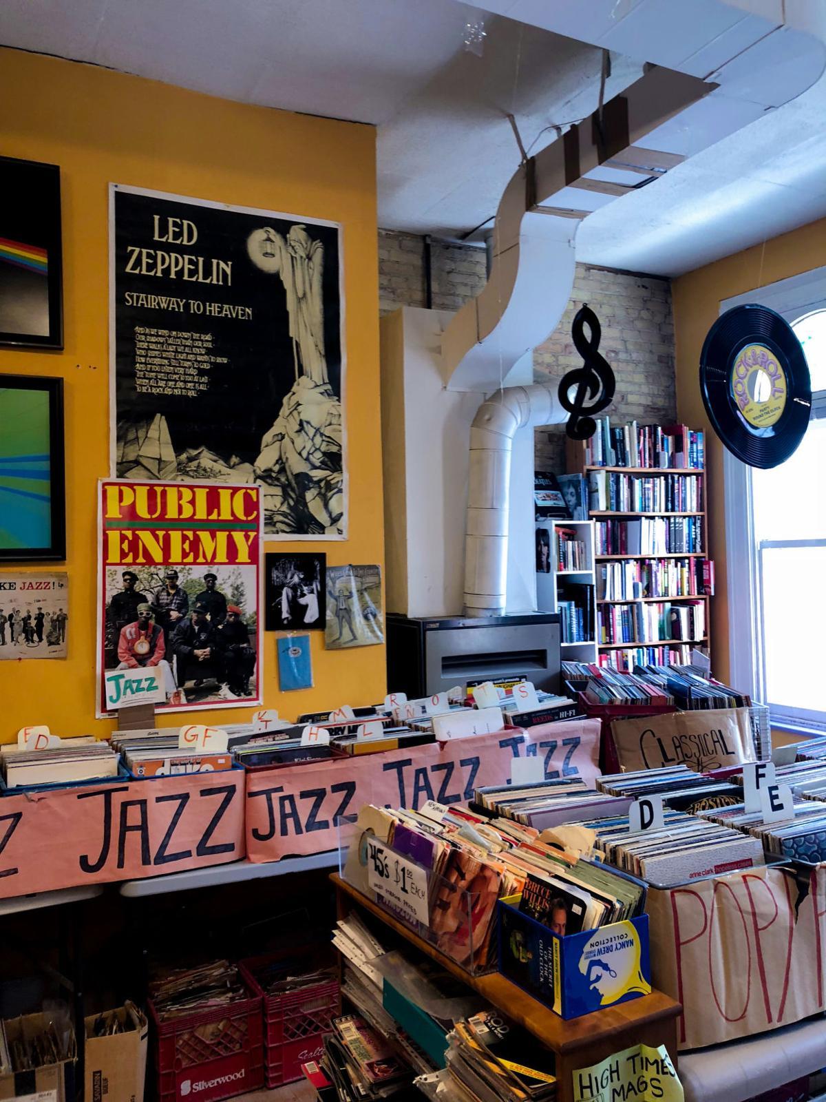 Bookshops in London - Safiya Chagani City Lights Bookshop record room(6 of 10).jpg