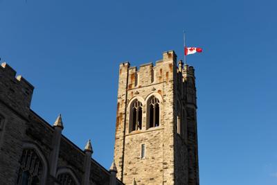 UC flag at half mast (2)