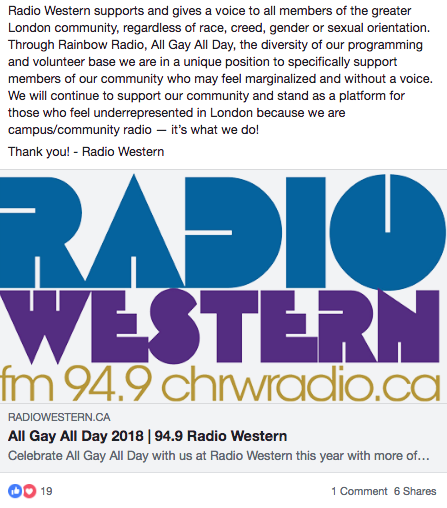 Radio Western Facebook statement (part 2)
