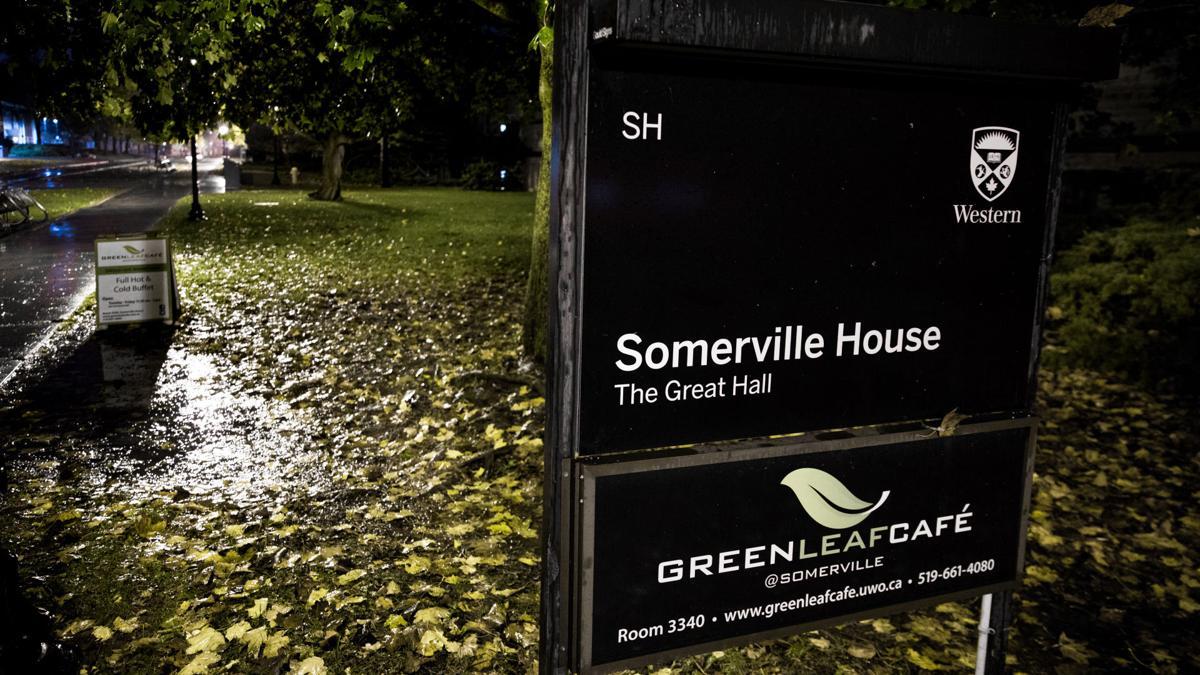 Somerville Hall at Night