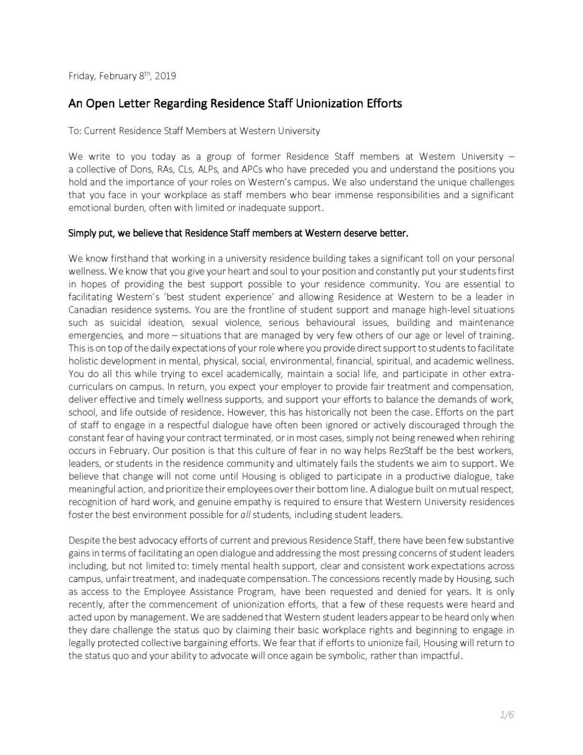 Rez staff letter (Photo 1)
