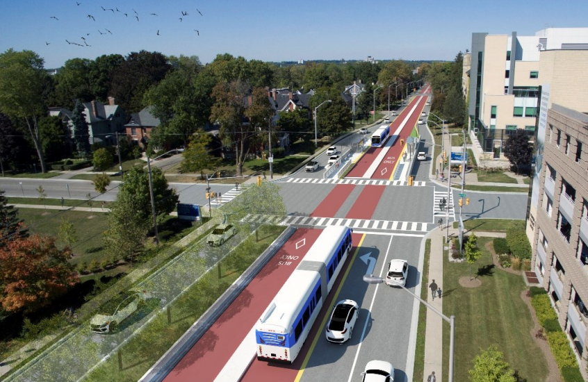 Bus rapid transit on Richmond