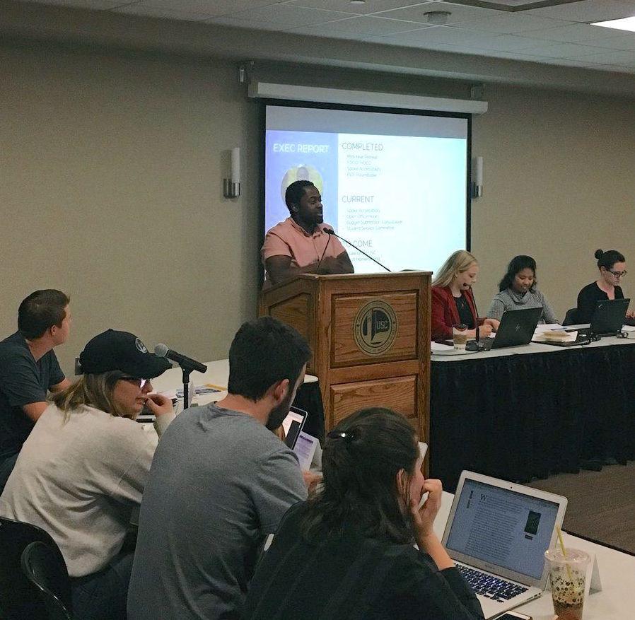 President Solebo addresses October USC meeting