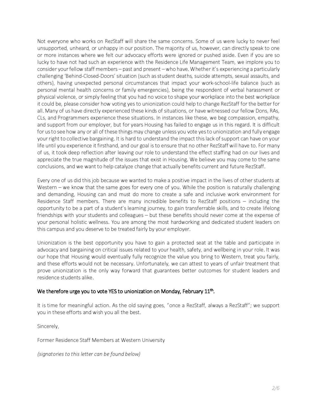Rez staff letter (Photo 2)