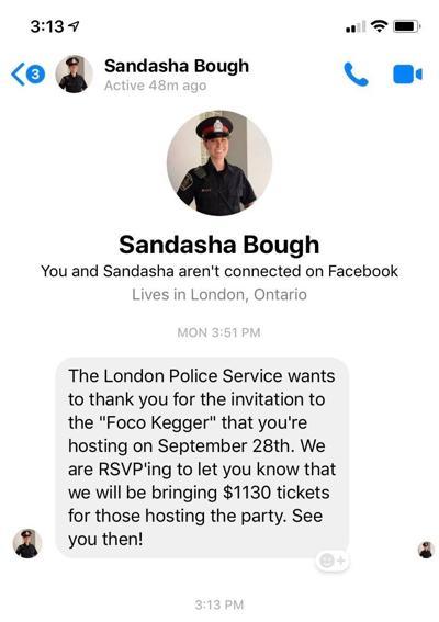 London Police Fines Facebook