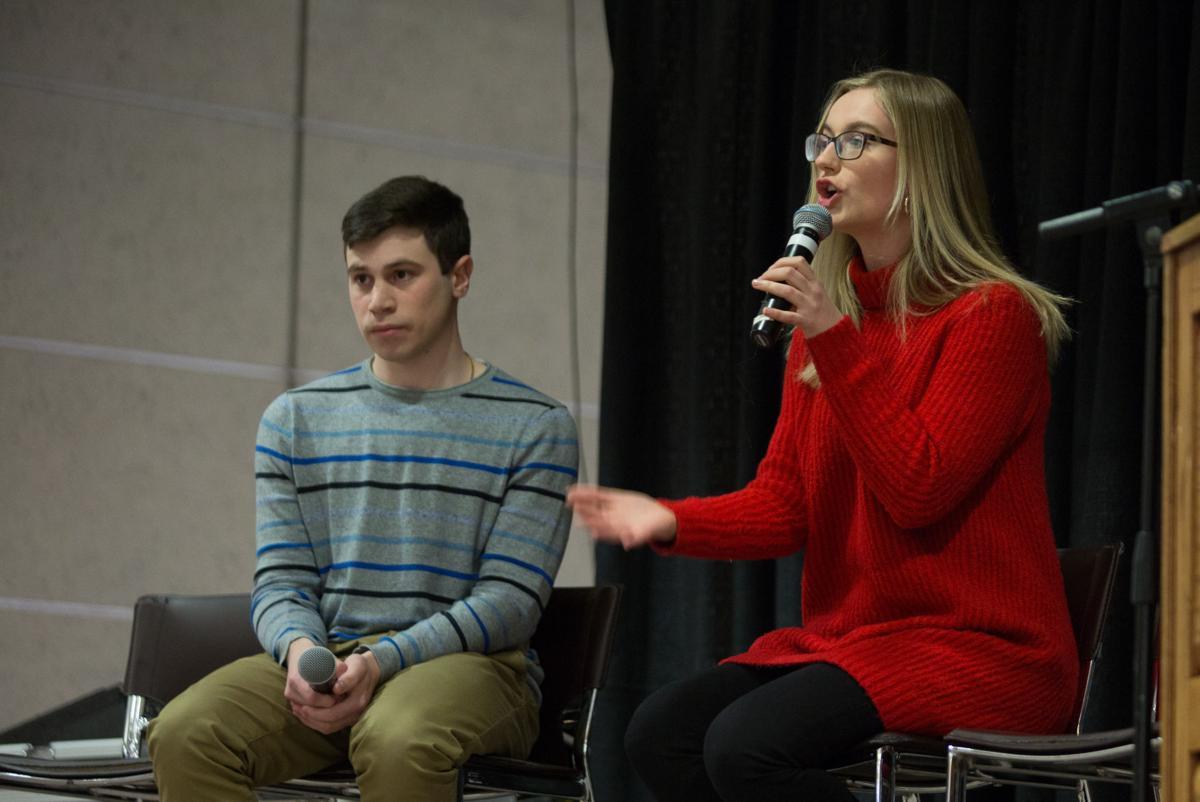 USC Debate (Photo 3, Cat speaking)