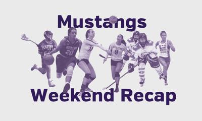 Mustangs Weekend recap graphic