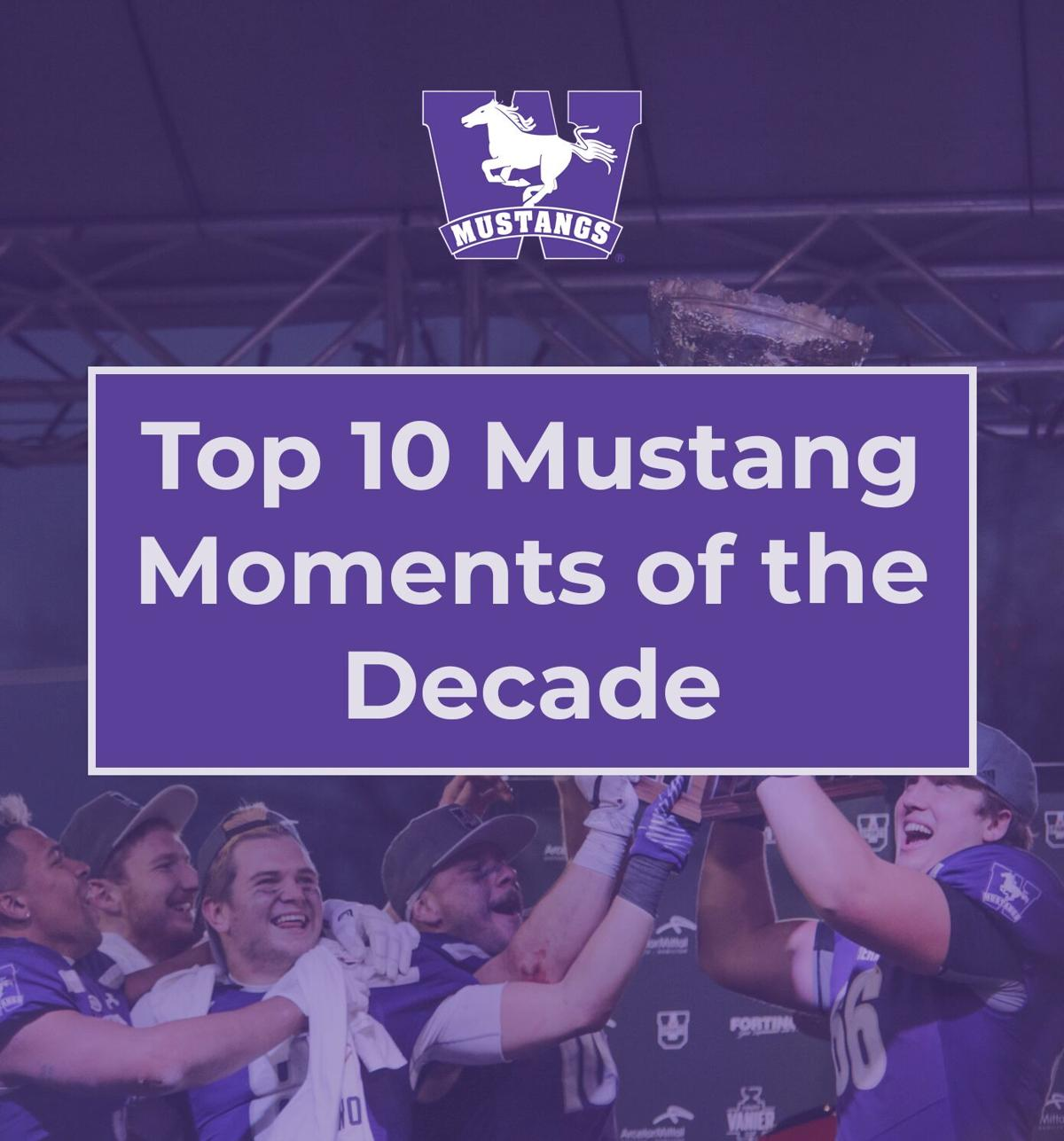 Top ten Mustangs moments of the decade graphic