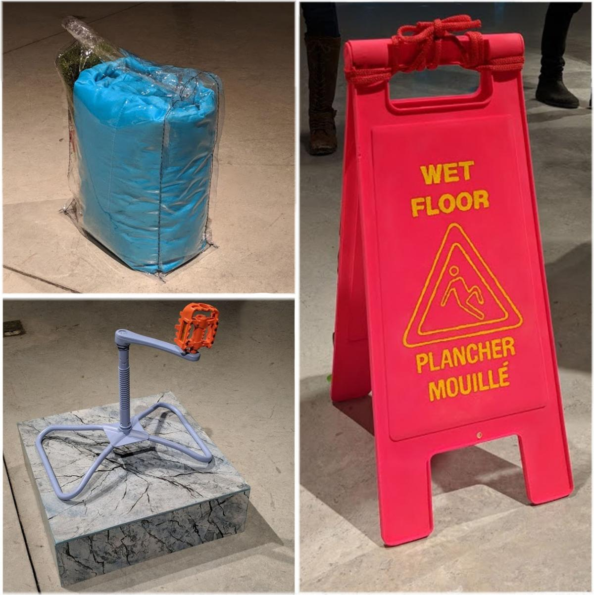 'selsun blue' Lydia Santia's 'kit,' 'platform for plastic and metal' and 'wet floor sign'