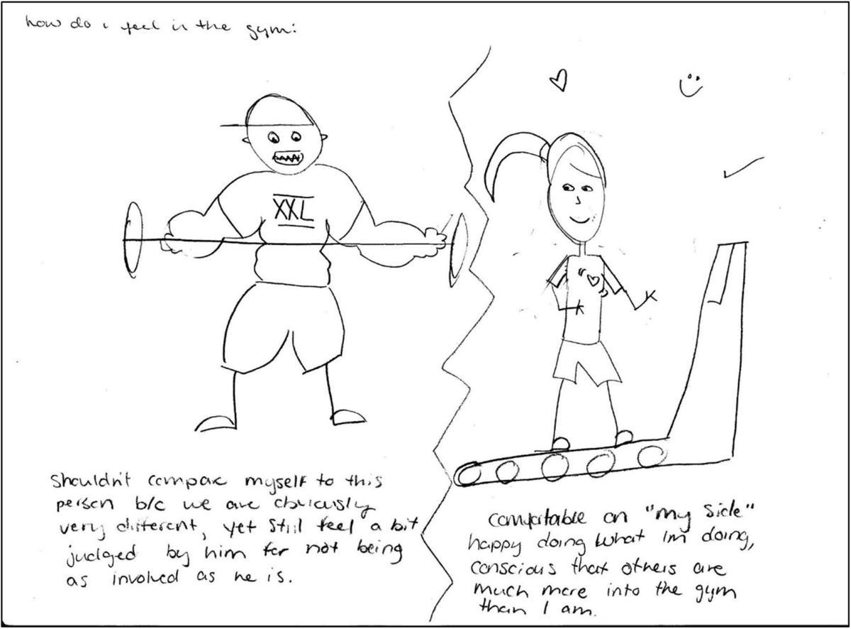 Stephanie Coen, gym study image