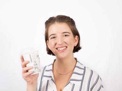 Gabrielle Drolet headshot latte