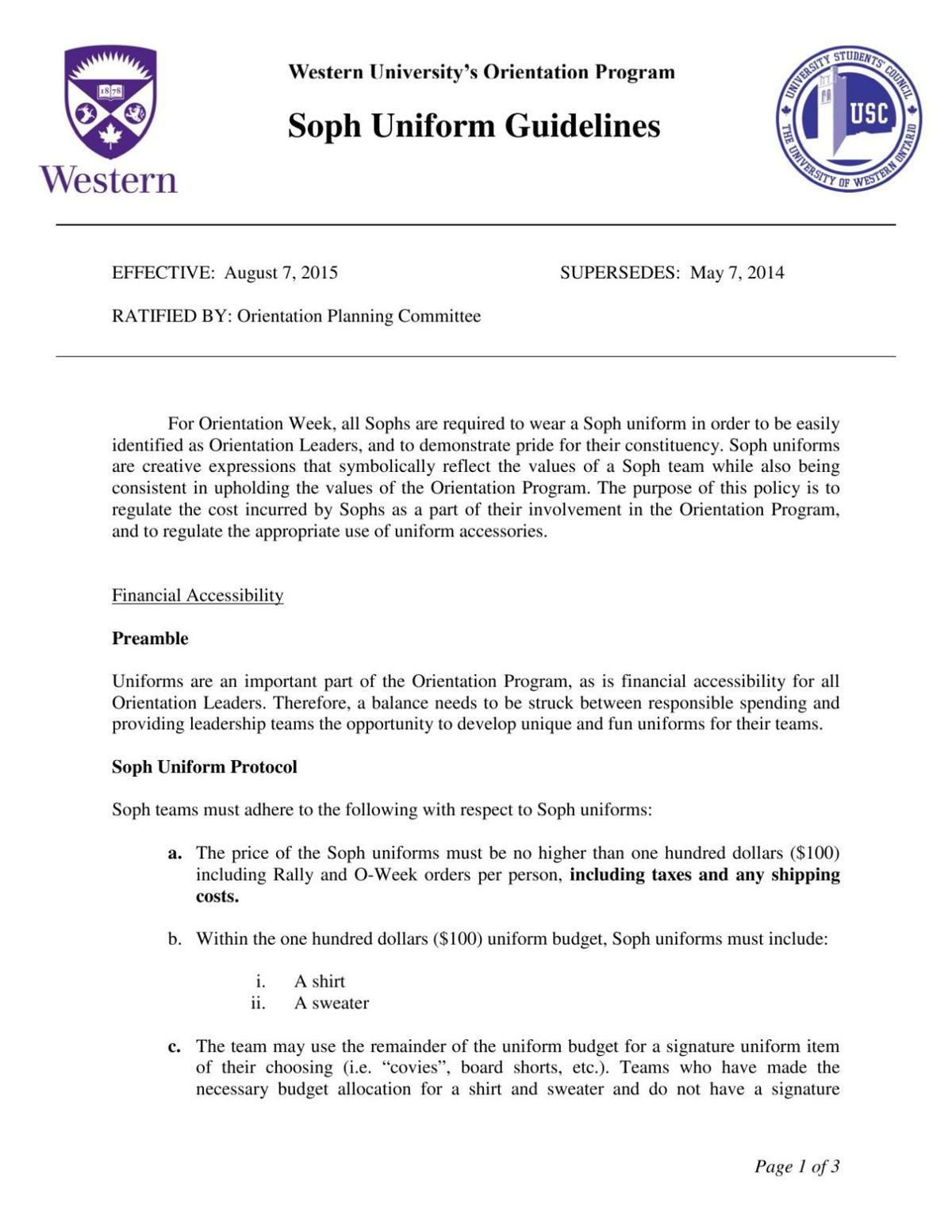 Uniform Guidelines (2015)