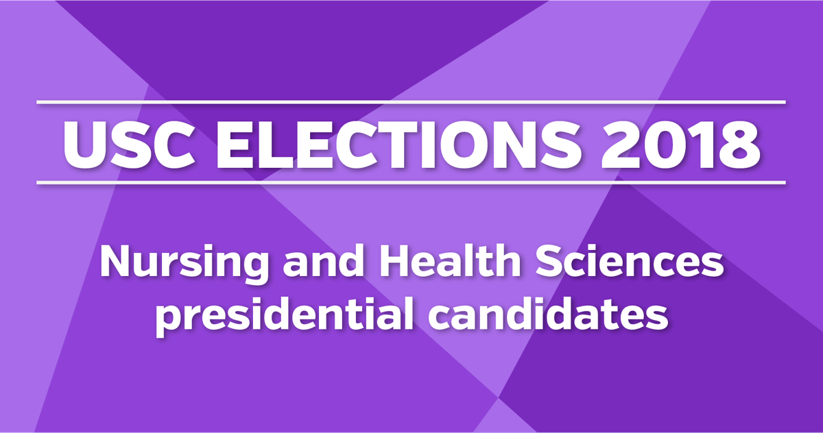 nursing and health sciences presidential candidates graphic