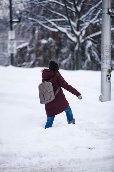 Struggling in snow 1