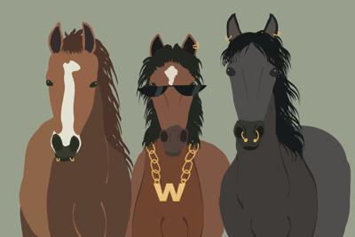 Mustang slang graphic (png)