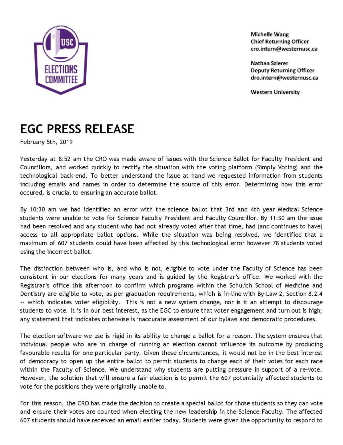 EGC response Feb.5, one