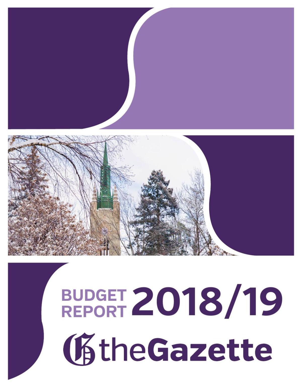 Gazette Editorial Budget F2019