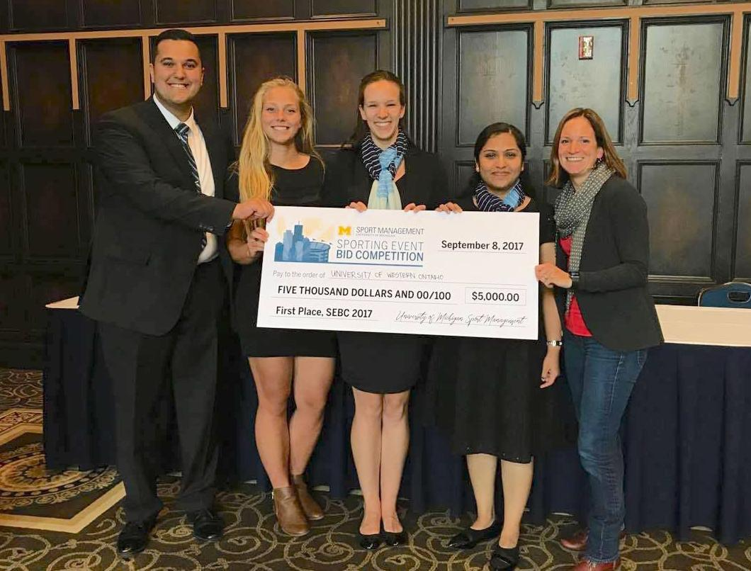 University of Michigan Sporting Event Bid Competition Contestants and Supervisor