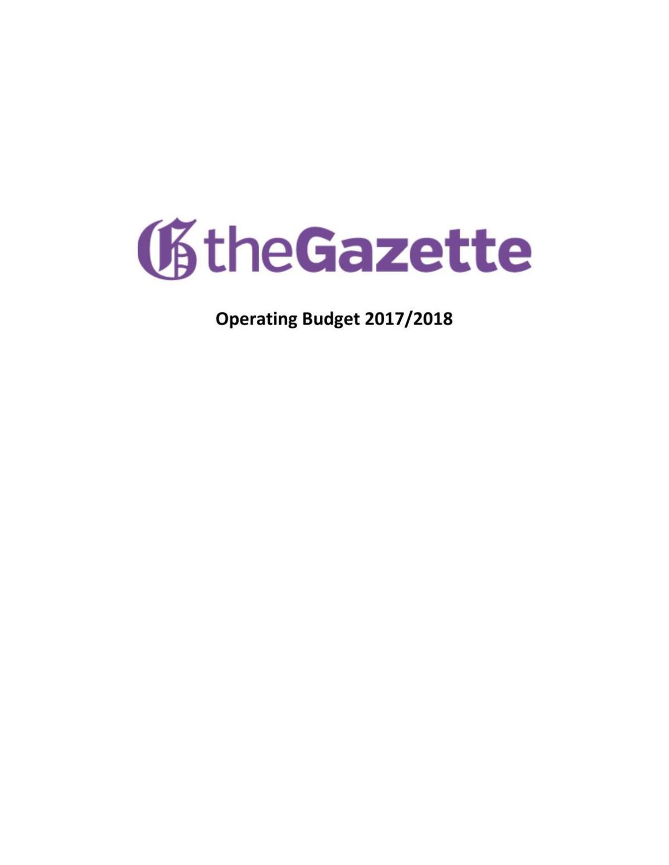 PDF: Gazette budget 2017-18