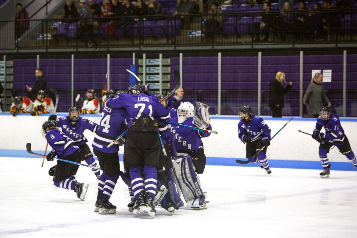Women's Hockey vs Guelph (Photo 2, Celebration)
