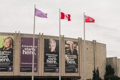 Alumni Hall flags (Photo)