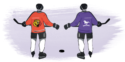 Cordell James and Ethan Szypula hockey graphic