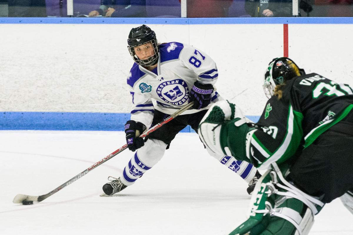Women's Hockey Championship - Saturday March 17, 2018 4PM - Western vs Saskatchewan - Lucy Villeneuve