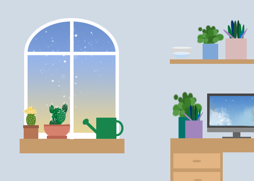 How not kill your houseplant graphic (png file) - Tracy Wang