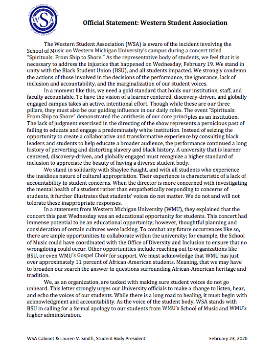 WSA statement regarding the Dr. John Wesley Wright's comments