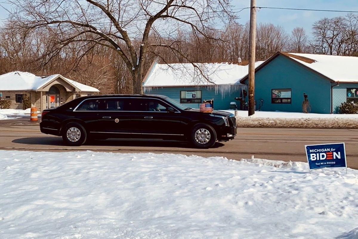 President Joe Biden Visits Portage