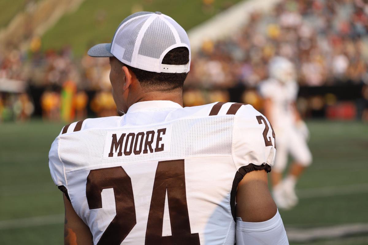 WMU Football Skyy Moore sidelined