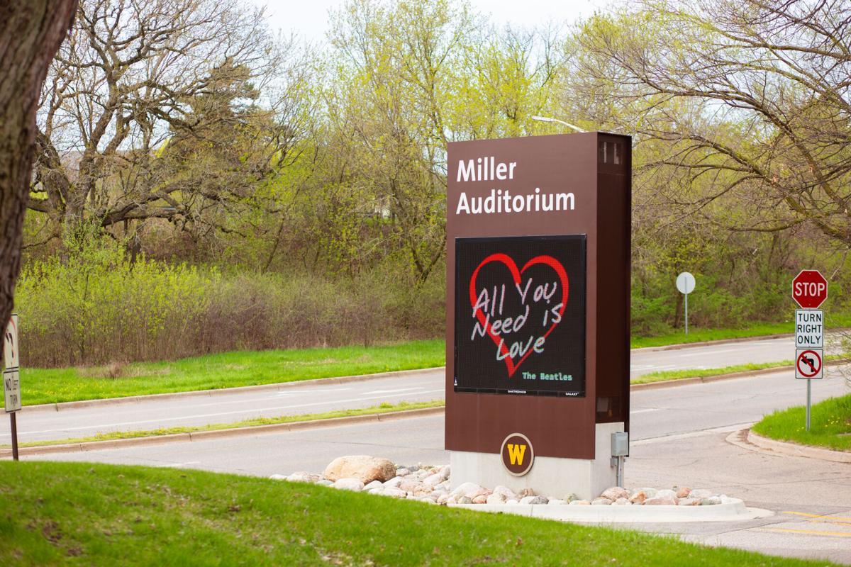 Miller Auditorium sign